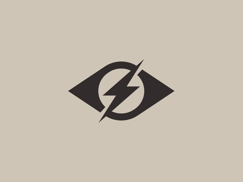 Strike the eye strikethrough eye catching eye lightning logo lightning bolt spark brand identity design brand identity vector identity exploration symbol monogram icon brand branding logo