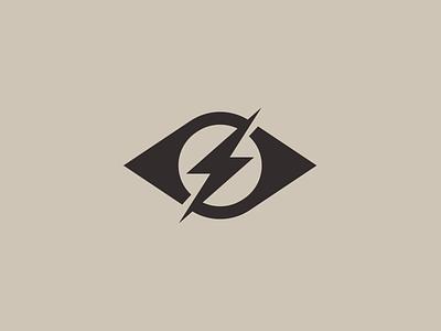Strike the eye strikethrough eye catching eye lightning logo lightning bolt spark brand identity design brand identity vector identity exploration symbol monogram icon brand branding logo