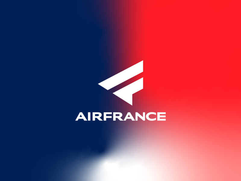 Air France - Gradient logo design airport airways airfrance airlines logo-exploration brand identity brand identity design exploration symbol icon monogram brand branding logo