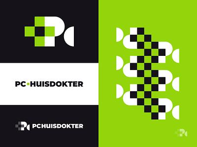 PC Doctor, Final tech care green doctor pc wordmark pattern design pattern logo designs logodesign identity exploration brand identity brand identity design symbol icon monogram brand branding logo