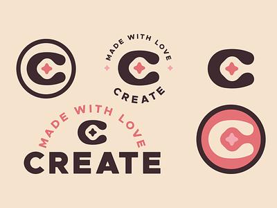 Create pink logo made with love star sparkle brand elements logo lockup logo variations creator create pink identity exploration brand identity brand identity design symbol icon monogram brand branding logo