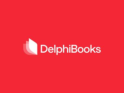 DelphiBooks 📚 pages logo mark design logomark book logo bookshop books delphi programming language programming wordmark identity logo mark brand identity brand identity design symbol icon monogram brand branding logo
