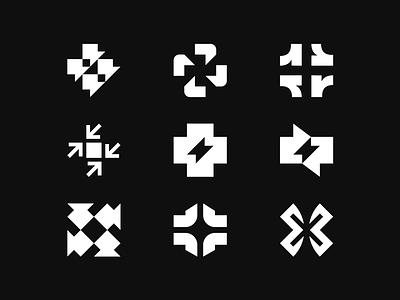 Lightning Cross - logo-concepts. x cross symbol logo design rescue salvation ellinie crosses logo collection logo-concepts exploration identity brand identity design brand identity symbol icon monogram brand branding logo