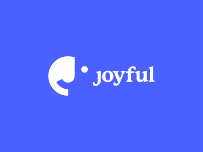 Joyful 😊 blue happiness eye joyful joy happy mood smiley emoji smile logo-exploration logo mark logo design identity brand brand identity design monogram branding brand identity logo