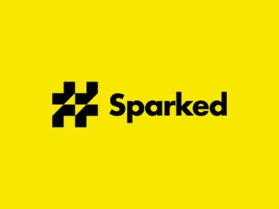 Sparked |  # + ⚡️ volt simple logo simple design logo icon logos hashtags hash hashtag spark sparked logo-exploration logo mark logo design brand identity brand identity design icon monogram brand branding logo