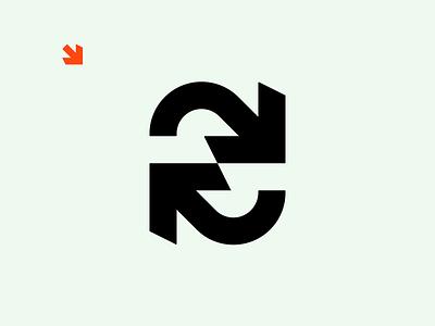 Synkro orange offwhite simple design simple logo s logo mark syncing sync synergy arrowhead arrow logo logo design identity brand identity brand identity design symbol icon monogram brand branding logo