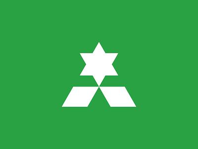 ⭐️ Star modernism logo monogram greenery branding agency branding design green stars star logo startup star logo-exploration logo mark logo design icon brand identity design brand identity monogram brand branding logo