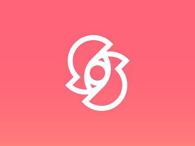 Scleras 👁 stroke iris pupil pink gradient monogram scleras sclera eyes eye icon eye logo brand identity design brand identity logo mark logo icon