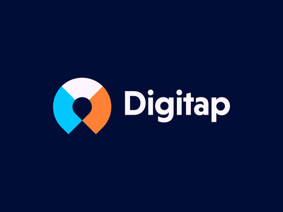 Digitap startup touch internet digitap overlay multicolor tap digital logo concept concept logo-exploration logo design logo mark identity symbol icon monogram brand branding logo