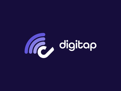 Digitap startup touch internet digitap overlay multicolor tap digital logo concept concept logo-exploration logo design logo mark identity symbol icon monogram brand branding logo