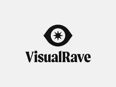 👁 Visual Rave star star icon visuals rave eye icon eye logo logo icon logo design design brand identity brand identity design icon monogram brand branding logo