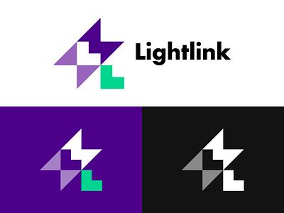 ⚡️ Lightlink purple links lightning logo lightning bolt spark app icon app design smart smarthome electricity link light brand identity brand identity design icon monogram brand branding logo