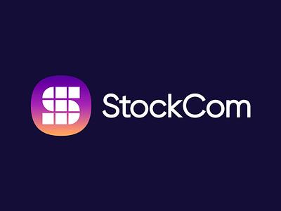 StockCom logomark design logomark logo design icon design squircle gradient logo gradient stock photos stock photos brand identity brand identity design icon monogram brand branding logo