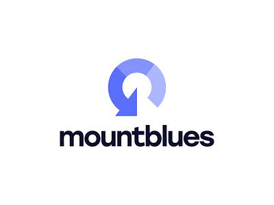 🗻 MountBlues logochallenge mount blues design logo icon logomark design logomark energy logo energy arrow logo adventure hiking mountain brand identity brand identity design icon monogram brand branding logo