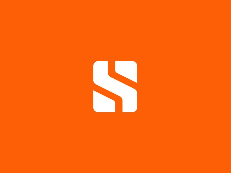 S logo s brand branding identity icon exploration orange