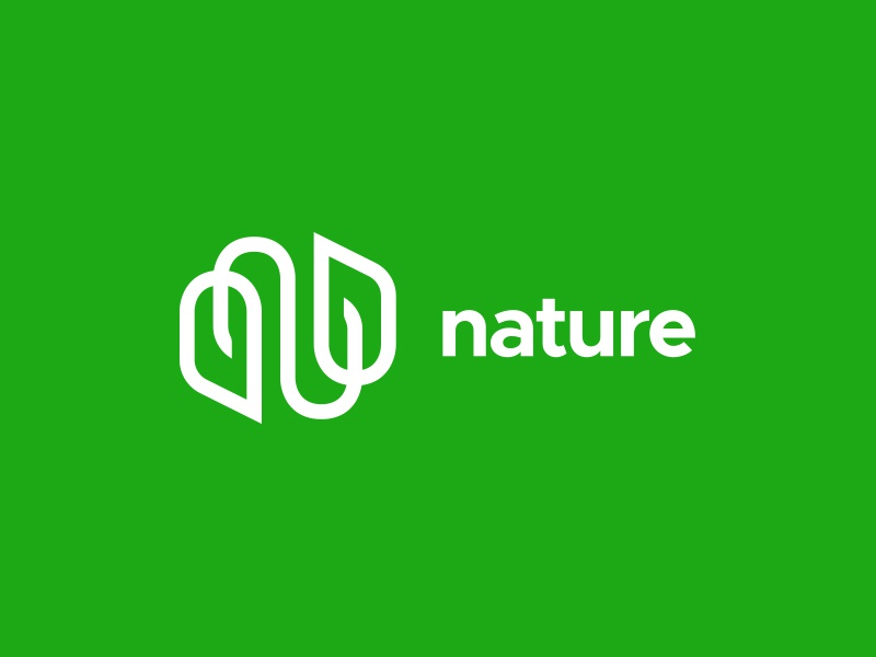 Nature monogram symbol nature n identity brand exploration logo branding