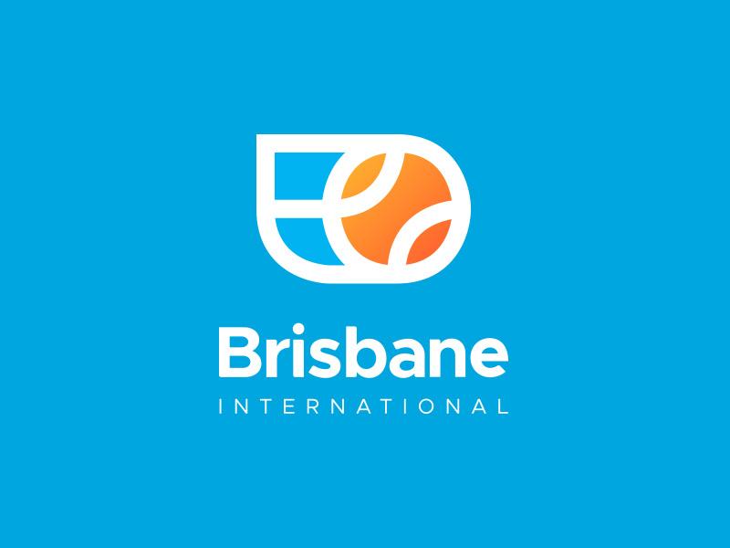 Brisbane International typography redesign sports exploration tennis logo international brisbane branding