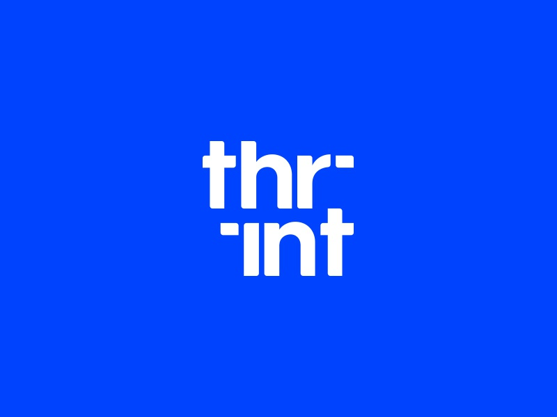 Thrint artist art business print printing logo-exploration typographic vector symbol logo branding