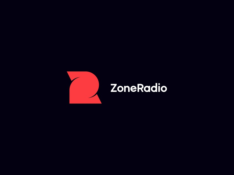 ZoneRadio logo client z r brand symbol logotype zr music zone radio radio branding