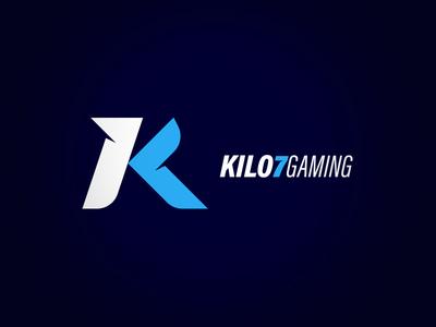 Kilo7Gaming wordmark gaming kilo7 rebranding rebrand mark logo icon k7 esports branding 2018
