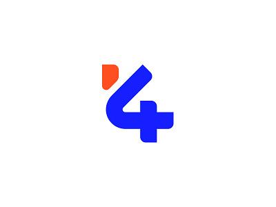 K4 logos 2018 exploration monogram letter 4 k k4 icon brand logo