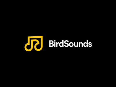 Birdsounds bird sounds music logos negative space illustration identity monogram vector exploration project symbol icon brand logo branding