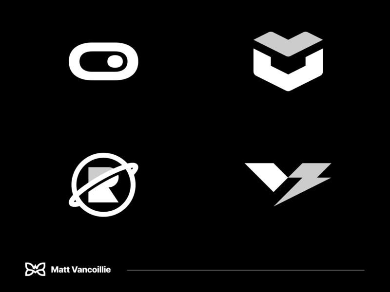 Logo Collection - Summer Favourites design brand branding illustration monogram symbol icon collection black and white duotone logo mark logo a day logoset 4 logo collection logodesign logo designs logo marks logos