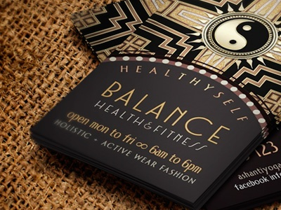 2yy artdeco yinyang businesscards wg dribbleshot