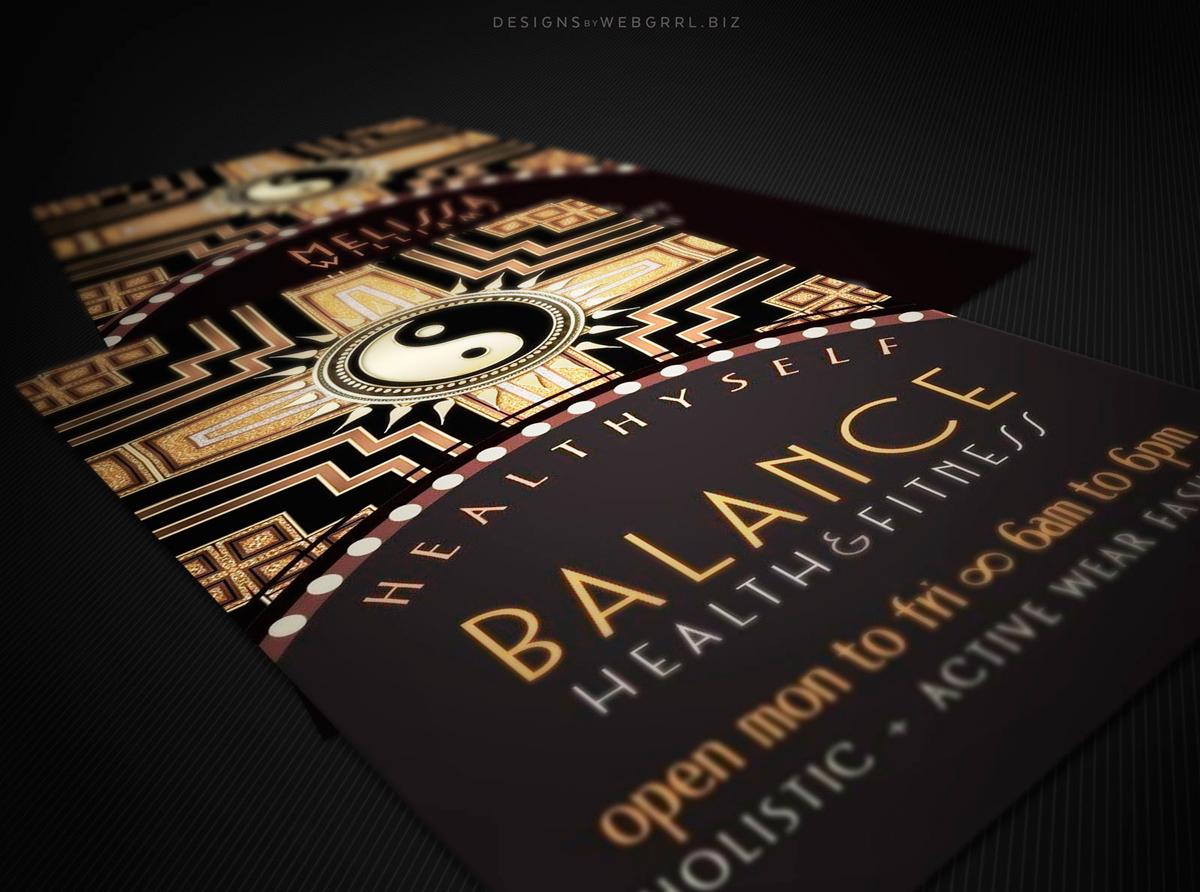 2yy artdeco yinyang businesscards wg2 disp1200
