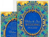 V1fx tealgoldblue ganesh weddinginvite mu 1a 800w