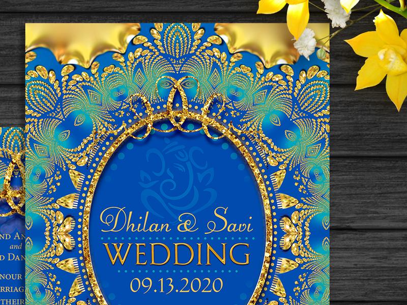 Eastern / Indian Wedding Invitation invitation design invitation invites invitations print indian wedding printed invitations unique design wedding invitation glitter