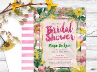 Pink floral garden bridalshower mu01