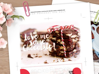 #30HappyWords - Chocolate | Recipe Cards Printables