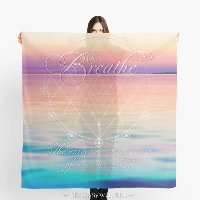 Breathe life reminders scarves
