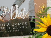 Save the Date Photo Overlay Template | Print