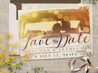 Save the Date Sunshine Bokeh Overlay Photo