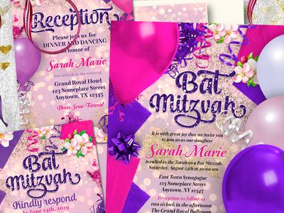Party Balloons Bat Mitzvah Suite