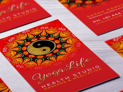 New Age theme Business Card Template