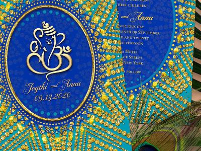 Eastern Ganesh Wedding Invitation weddings indian wedding invitation cards alternative style printed invitation