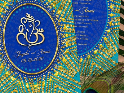 Eastern Ganesh Wedding Invitation weddings indian wedding invitation cards alternative style printed invitation