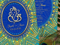 Eastern Ganesh Wedding Invitation