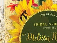 Sunflower Rustic Invitation