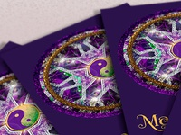 Purple Crystal Mandala • Business Card