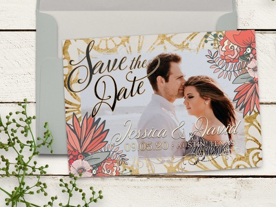 Save the Date Photo Card Templates print design photo card template save the date