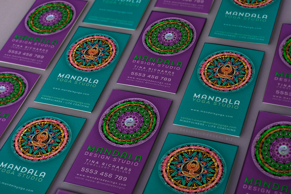 Mandala businesscards x2 mu1200