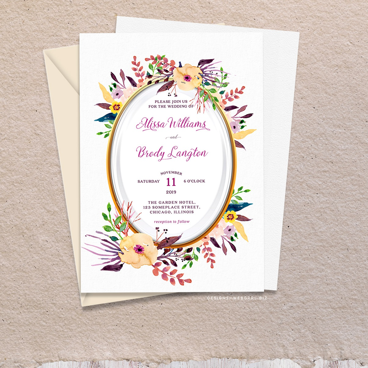 01cntr watercolor pastel flowers wedding invitation a7 mockup