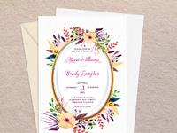 01cntr watercolor pastel flowers wedding invitation a7 mockup
