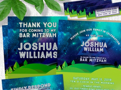 Great Outdoors Bar Mitzvah Invitation Suite printed invitations print design invitation suite bar mitzvah