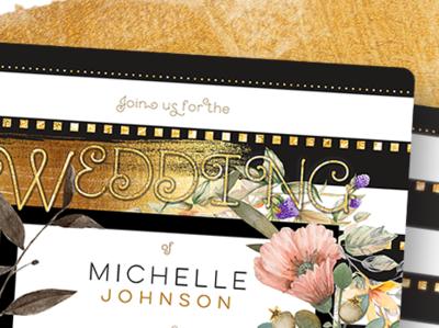 Black White Stripes - Wedding Invitation wedding printdesign invitation card