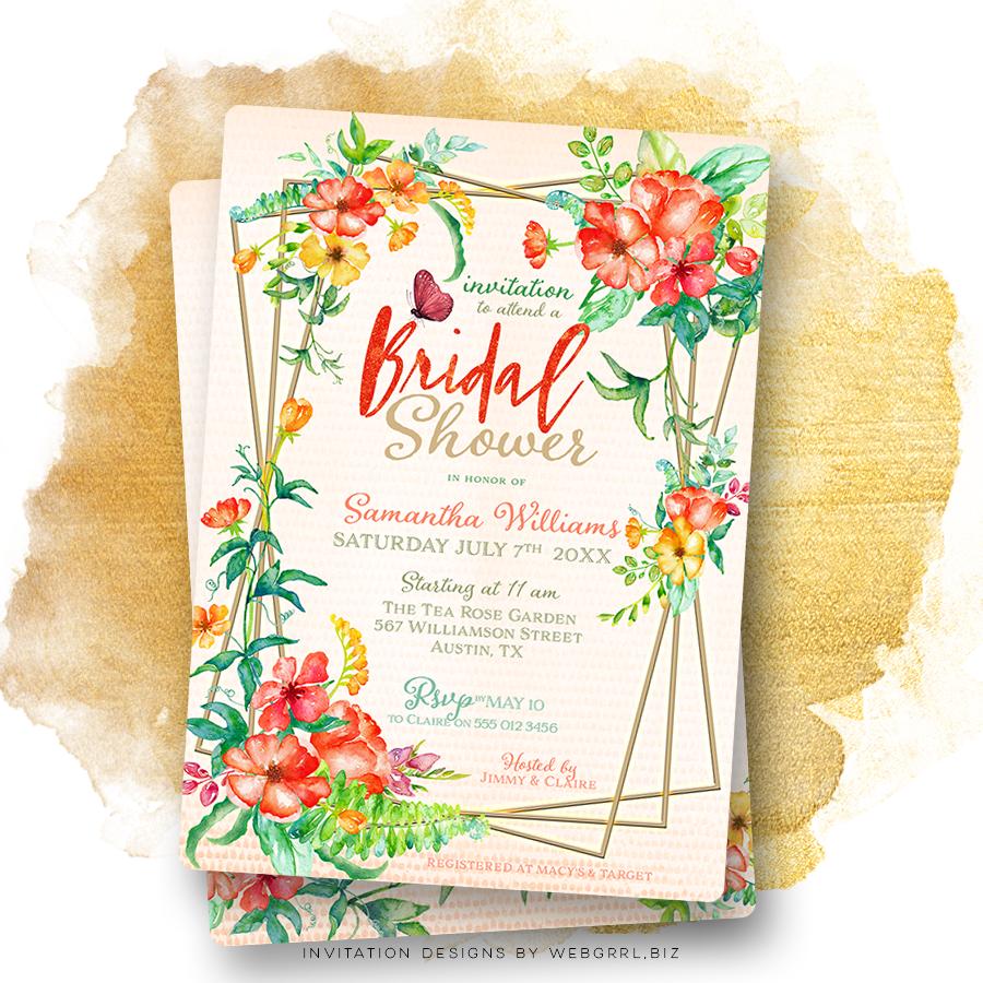 Tropical floral bridal shower v2fx mu900